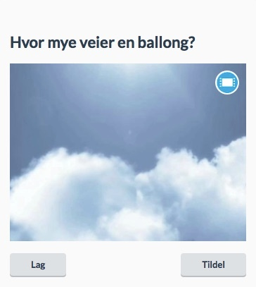 Hvor mye veier en ballong?