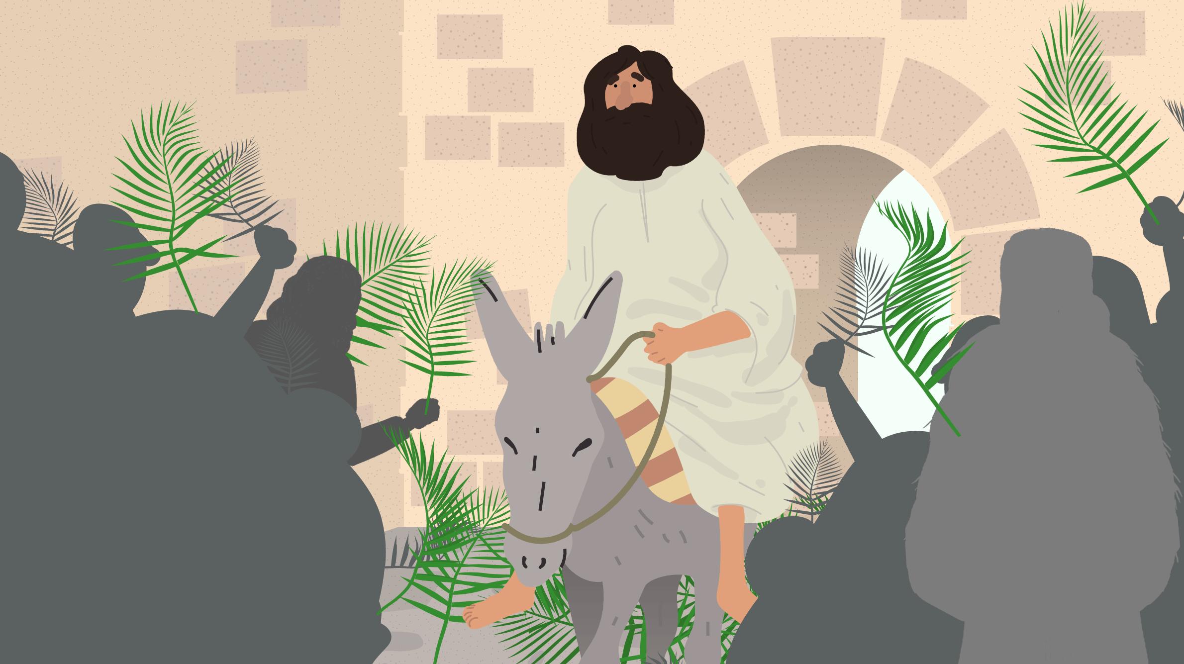 Jesus-rir-inn-i-Jerusalem