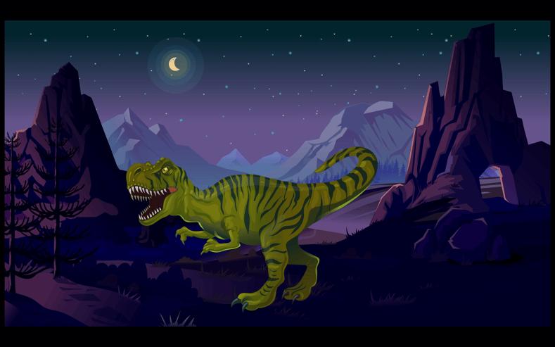 Dinosaur i Creaza